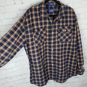 Pendleton Shirts - Burnside Pendleton plaid flannel long sleeve shirt